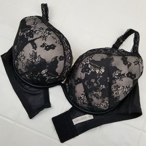 Very Sexy Cacique size 46C bold lace plunge bra